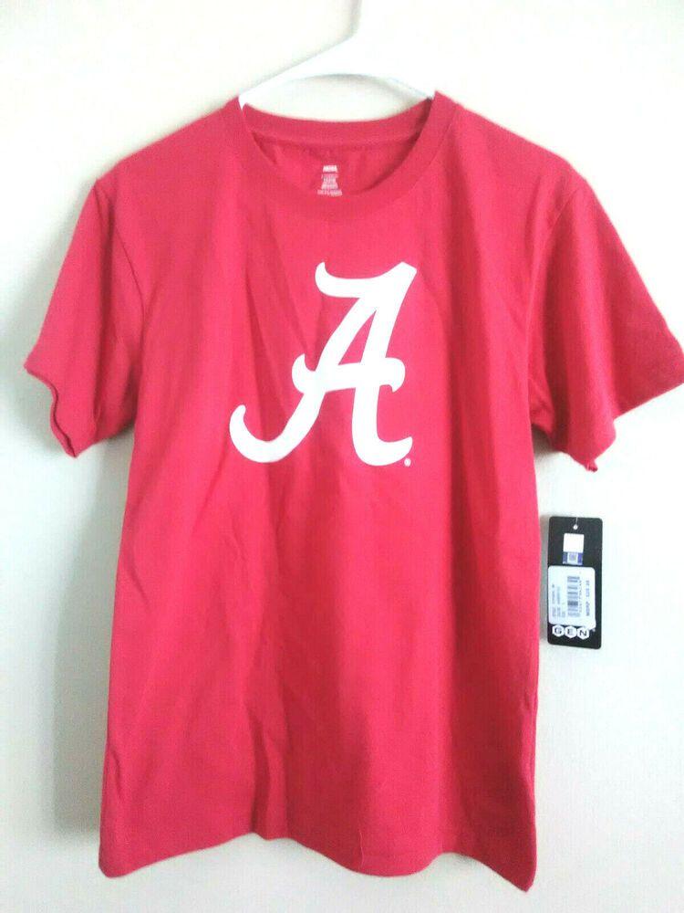 L 14 16 Boy's Alabama Crimson Tide Tee Shirt Short Sleeve