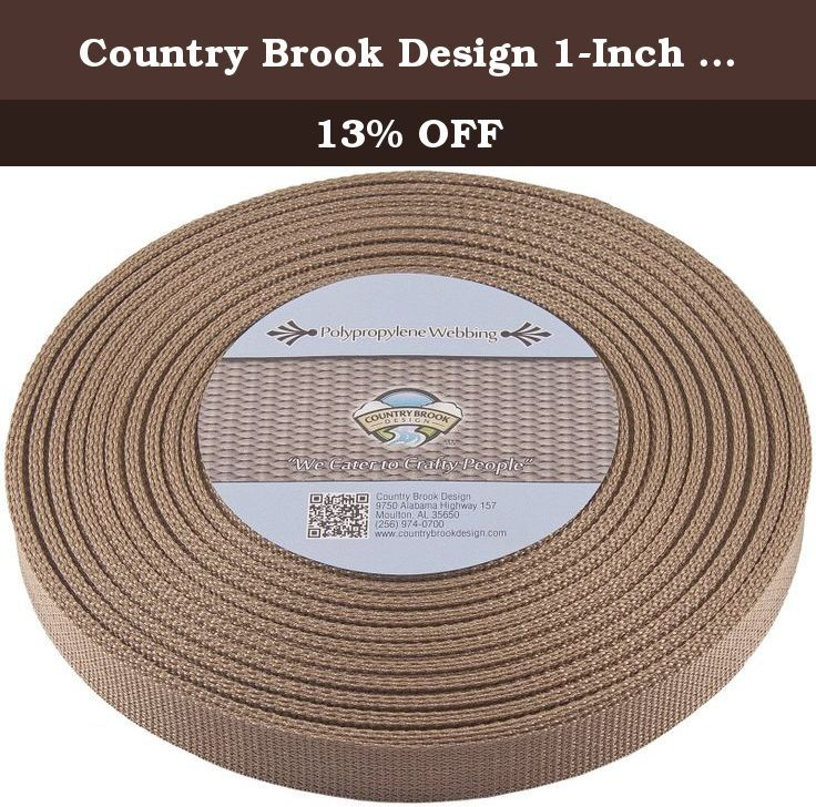 Country Brook Design® 1 Inch Black Heavy Polypro Webbing 10 Yards