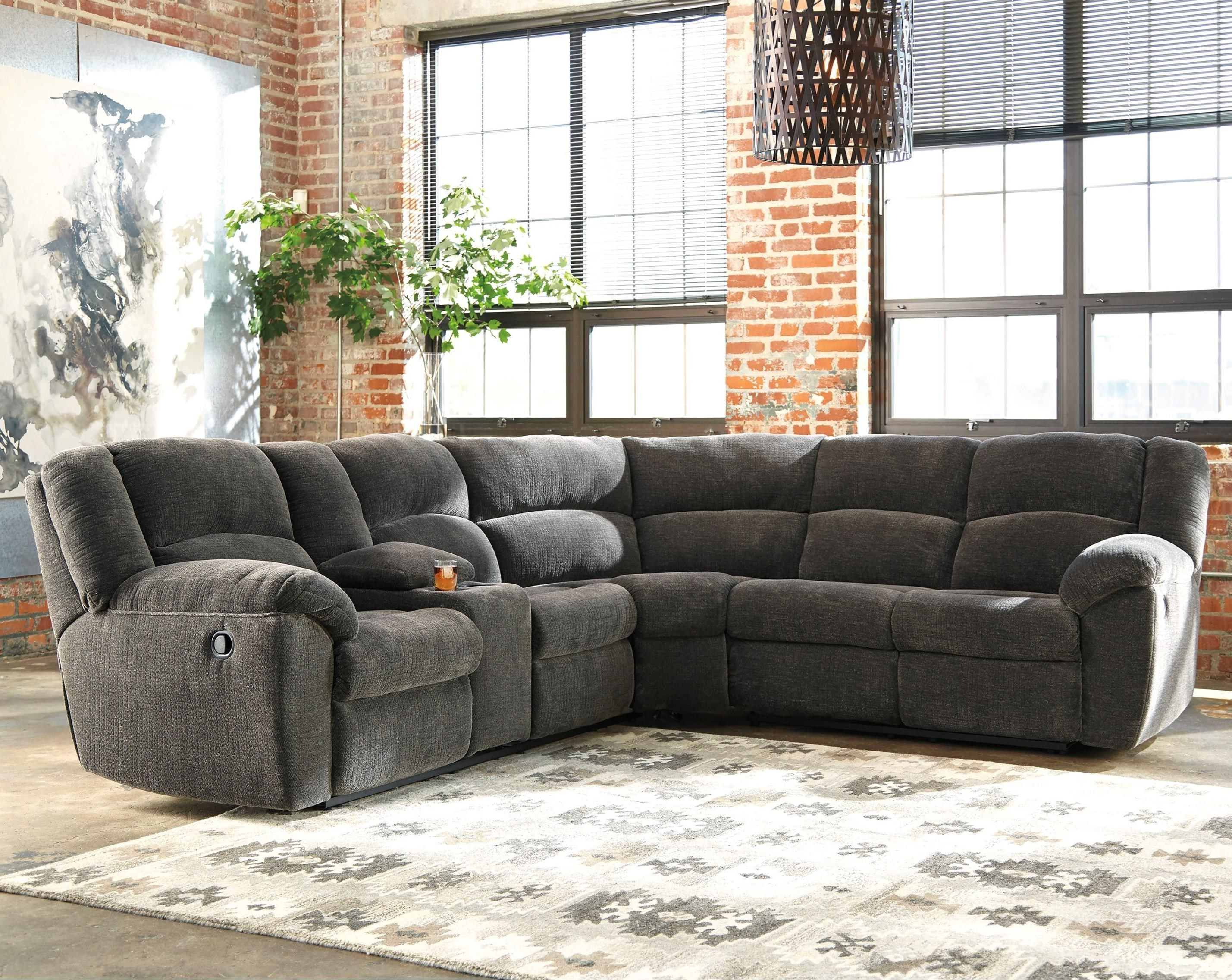 Timpson Reclining Sectional By Benchcraft Sectional Sofa With Recliner Power Reclining Sectional Sofa Reclining Sectional