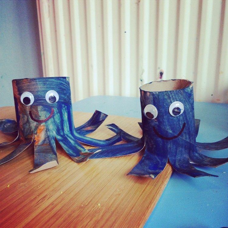 tintenfische aus klorollen basteln spielgruppe. Black Bedroom Furniture Sets. Home Design Ideas