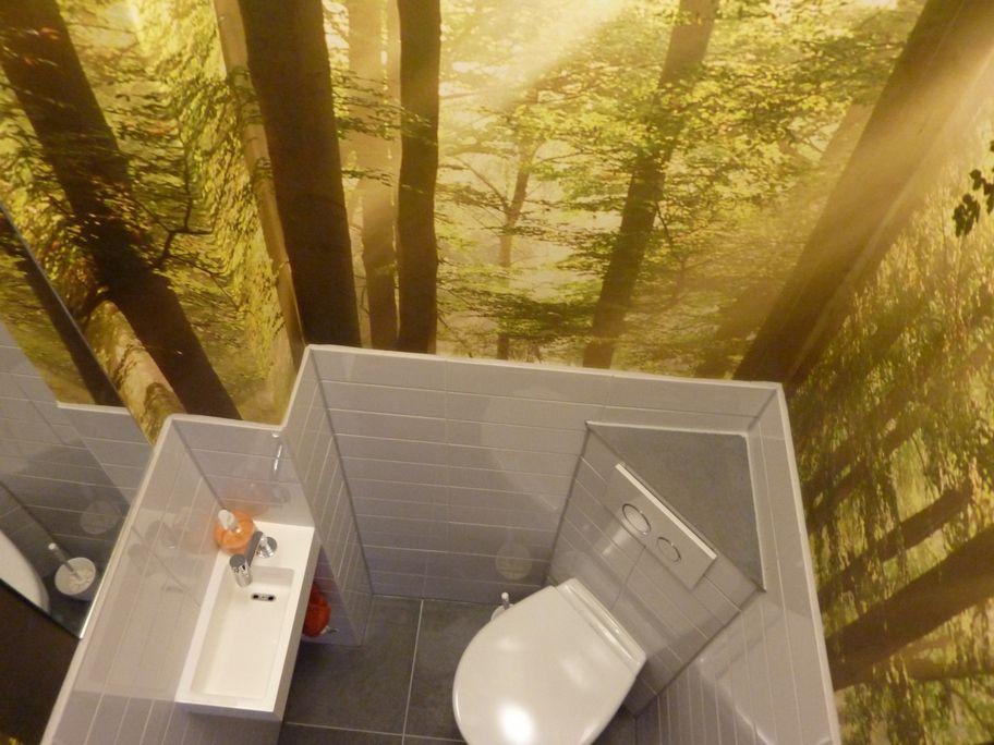 Behang Voor Toilet : Cum laude toilet van olaf kramer op canvas behang en meer