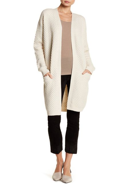 Vince Honeycomb Cardigan Just Above The Knee Length Cardigan