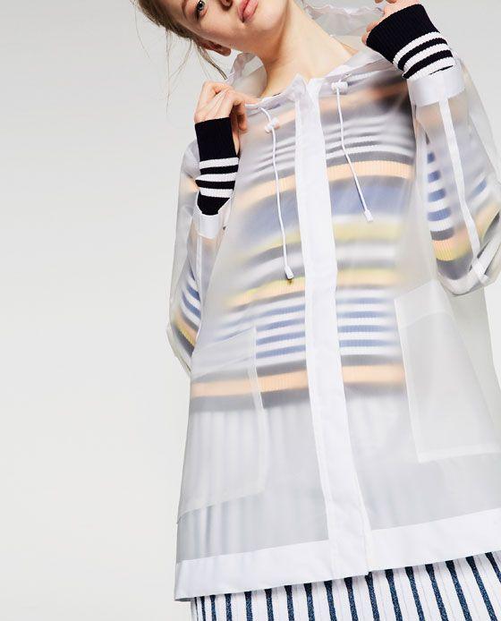 dc226856e Image 5 of SHEER RAINCOAT from Zara | paris & london packing list ...