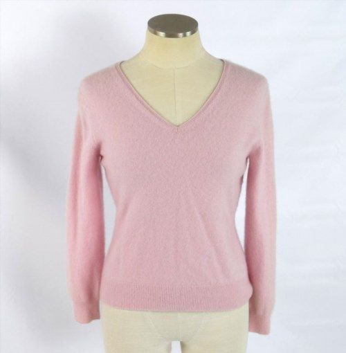 19.79$  Watch now - http://vijyv.justgood.pw/vig/item.php?t=sphmwd2701 - APT 9 Luxe Bubblegum Pink Fuzzy Soft Cashmere Knit V Neck Sweater Jumper Top S 19.79$