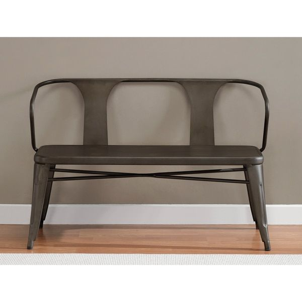 Tabouret Vintage Metal Bench With Back