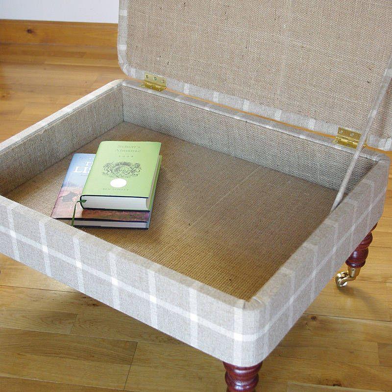 Bespoke Upholstered Storage Footstool By Sharp Le Notonthehighstreet