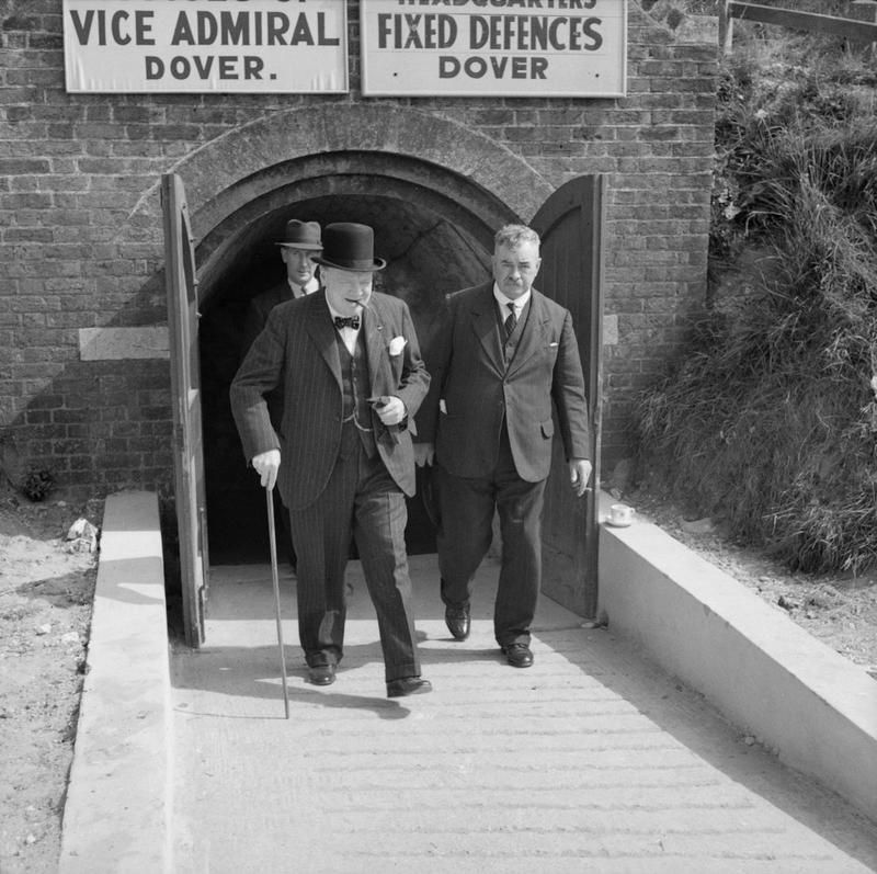 Prime minister Winston Churchill at Dover, on his tour of ...
