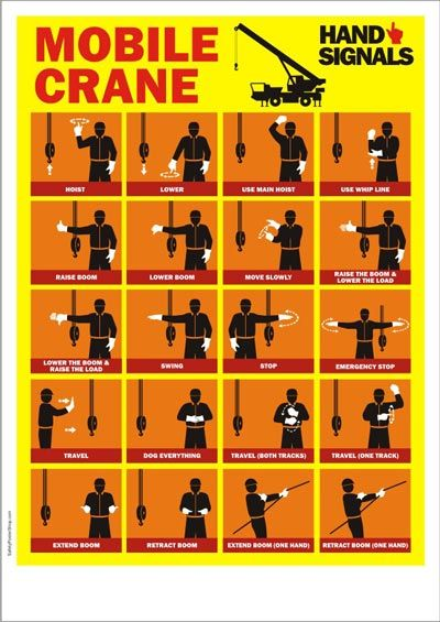 Mobile Crane Hand Signals Safety Pinterest Safety