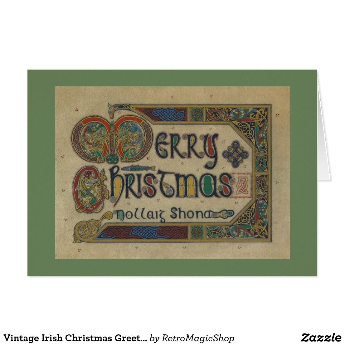 Vintage Irish Christmas Greeting Card Vintage International