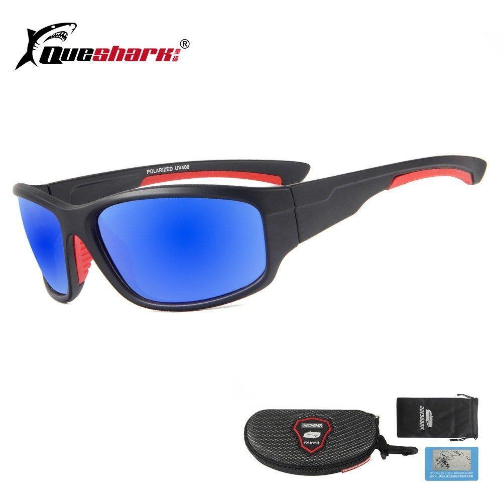 QUESHARK Polarized Fishing Sunglasses TR90 Lightweight