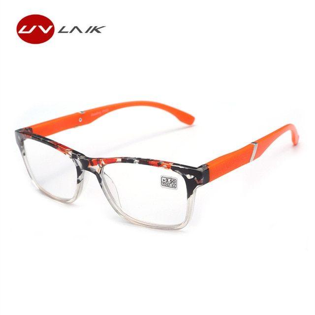 e3f5935add1 UVLAIK Fashion Hyperopia Reading Glasses Men Women HD Resin Lens Presbyopic  Reading Glasses 1.5 2.0 2.5 3.0 3.5 4.0 Review