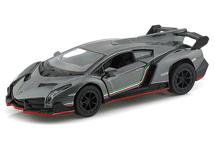 Genial Lamborghini Veneno Grey: Pull Back And Go Action With Openable Doors. Made  And Diecast And Some Plastic Parts.