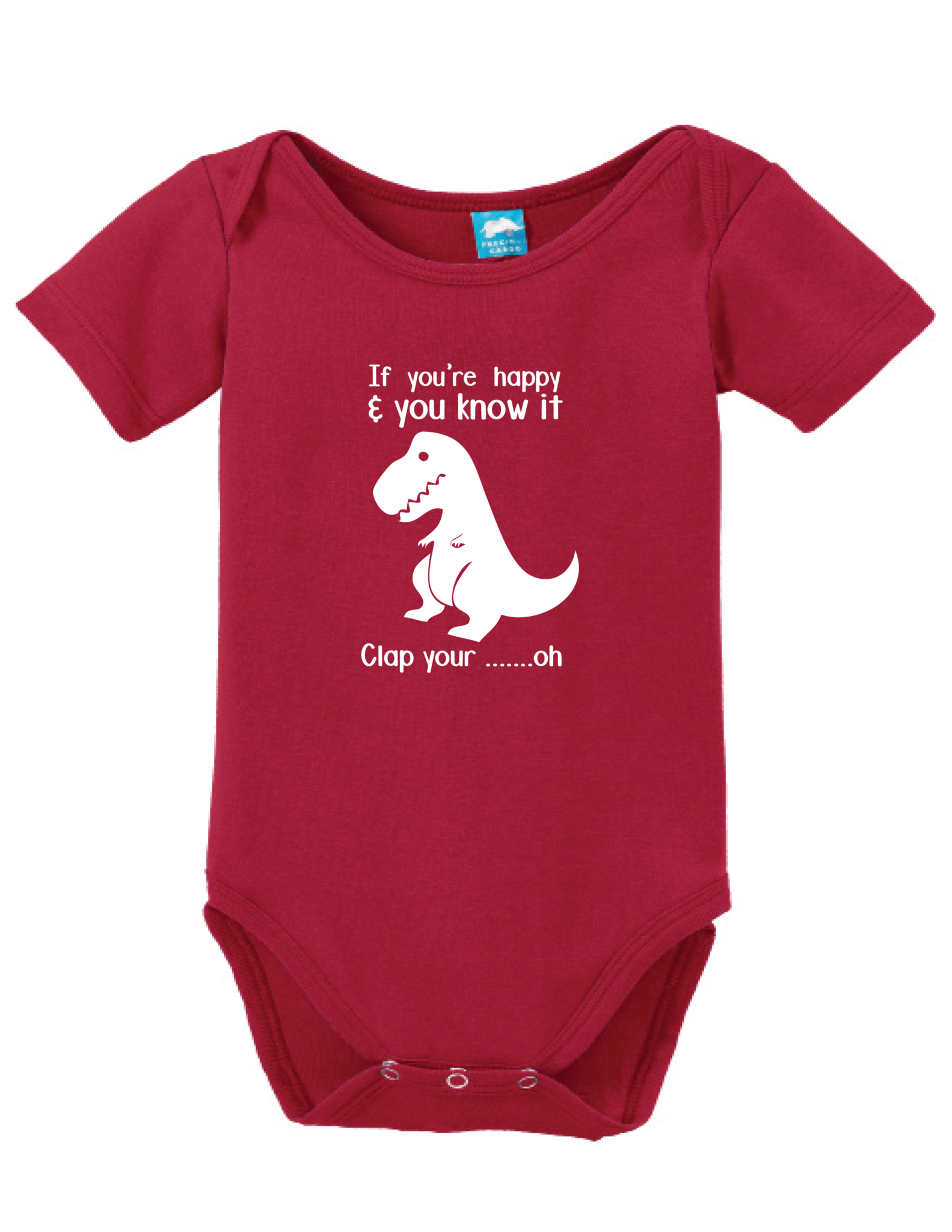T Rex Dinosaurs If Youre Happy /& You Know It Cute Baby Onesie Bodysuit
