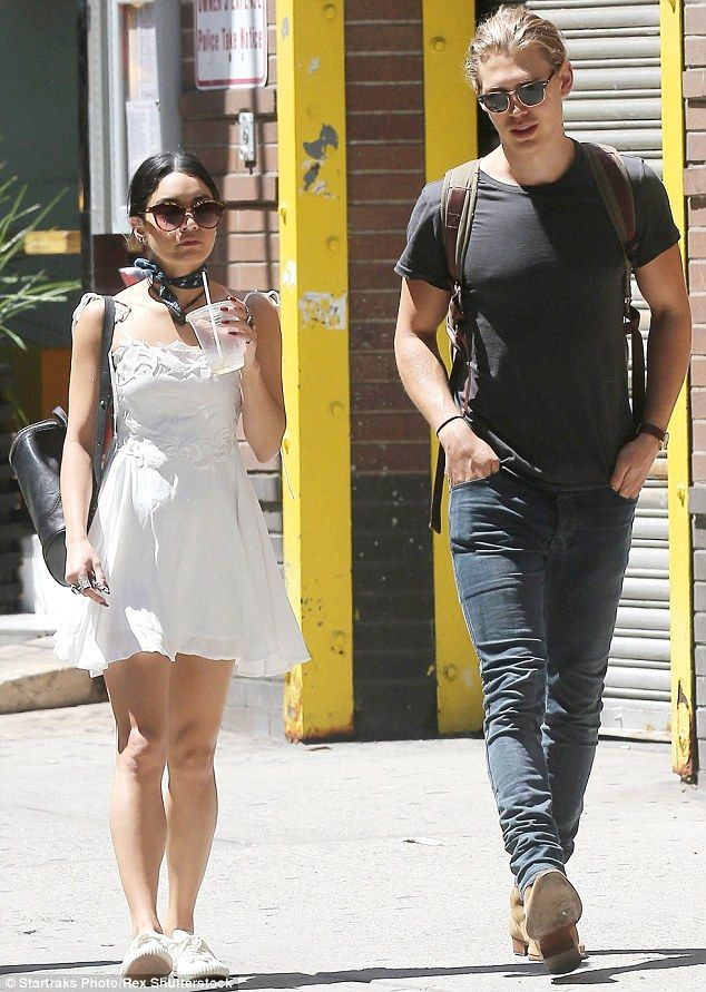 Fun in the sun: Vanessa Hudgens looked happy and relaxed as she enjoyed a summer stroll with her boyfriend, Austin Butler, in New York City on Wednesday afternoon