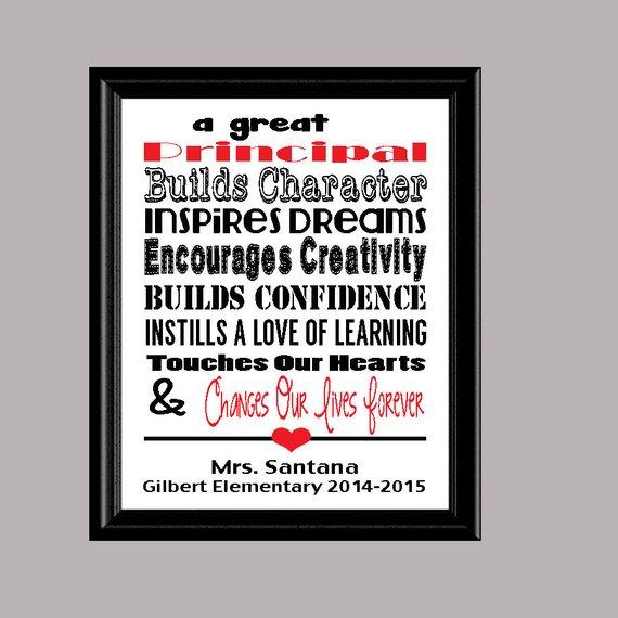 principal print principal appreciation gift personalized