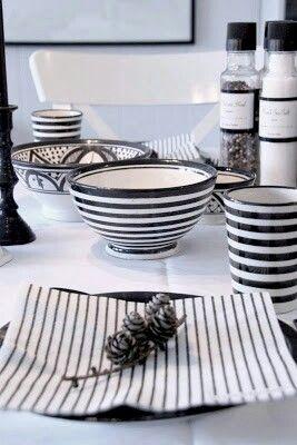 black & white living