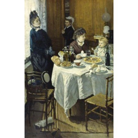 The Luncheon 1868 Claude Monet (1840-1926French) Oil on canvas Stadel Art Institute Frankfurt am Main Canvas Art - Claude Monet (18 x 24)