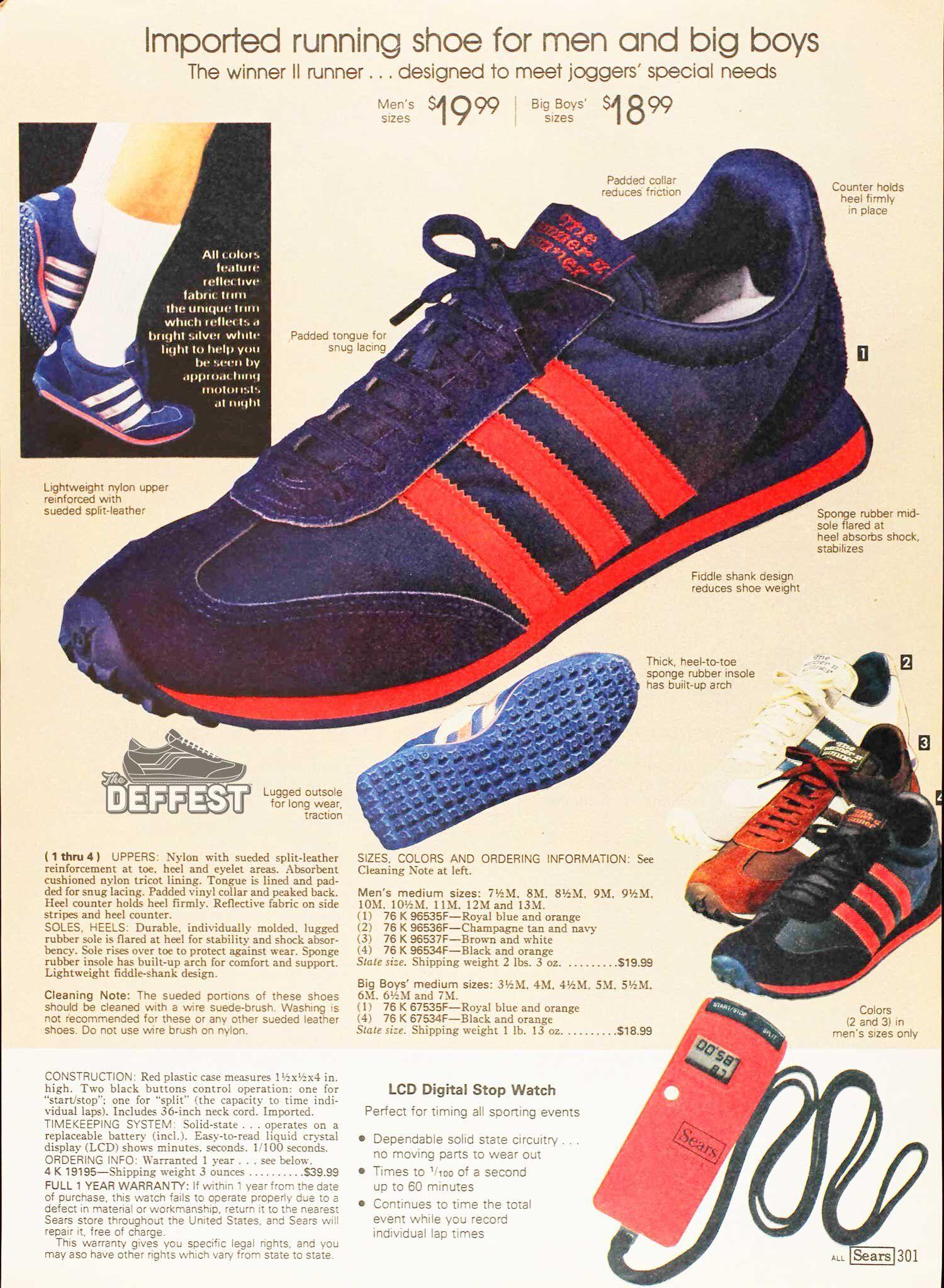 stripe vintage sneaker ad
