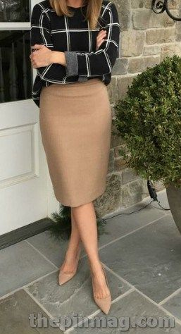 Skirt To Look Cute With Work Outfits For Women