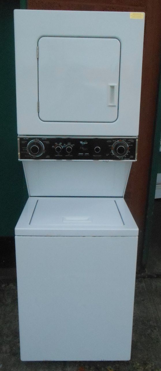 Appliance City Whirlpool Thin Twin 24 Inch Laundry Center Washer