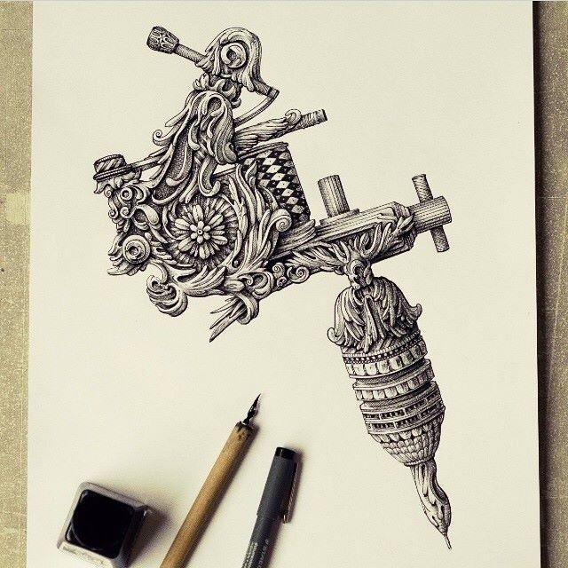 Tattoo Machine Tattoo Machine Drawing Tattoo Machine Art Tattoo Machine Design