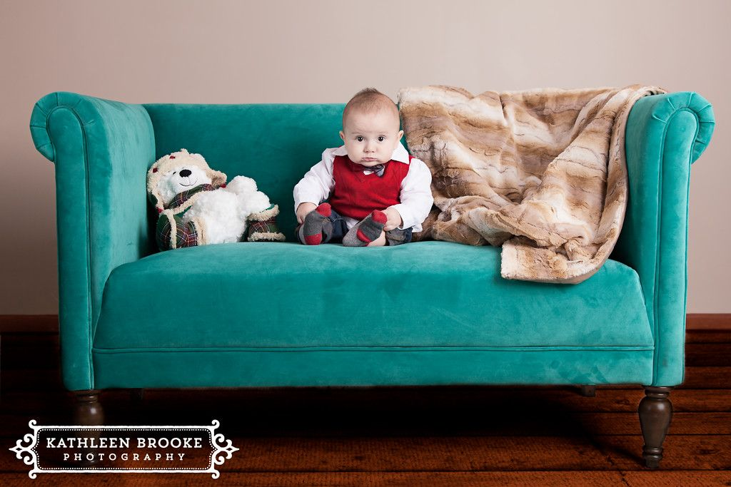 Christmas shoot!  7 month old baby out of Crystal Lake, IL  www.kathleenbrookephotography.com