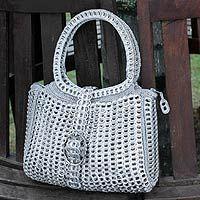 Novica Soda pop-top handbag, Assertive - Hand Made Recycled Aluminum Handbag