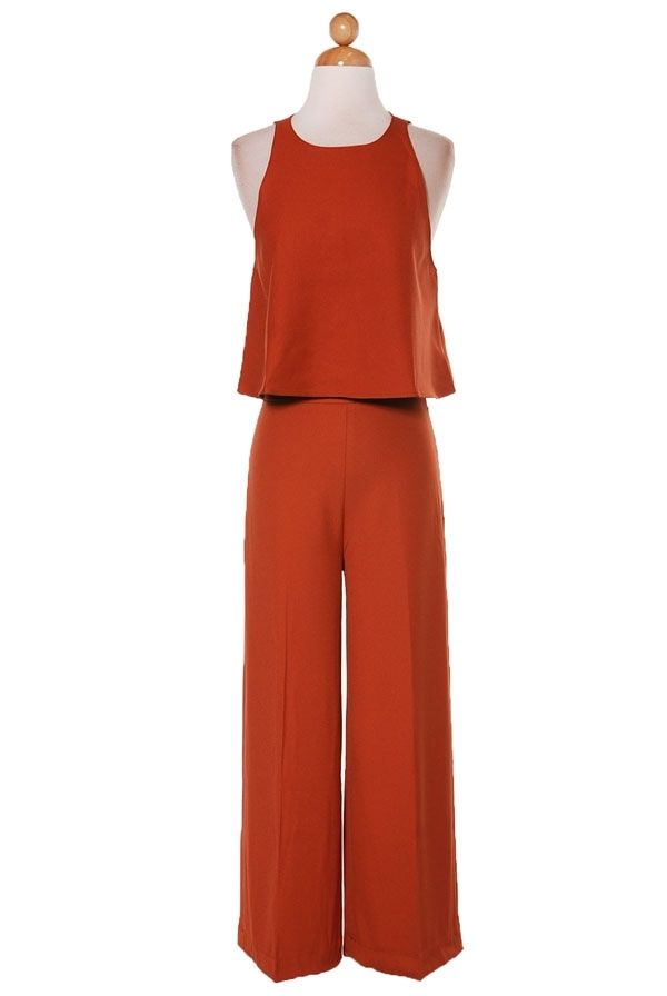 46fff71177 Burnt Orange Jumpsuit from Longhorn Fashions