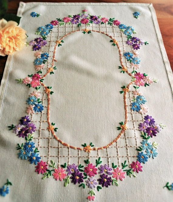 Embroidered Bird Butterfly and Flowers Blouse