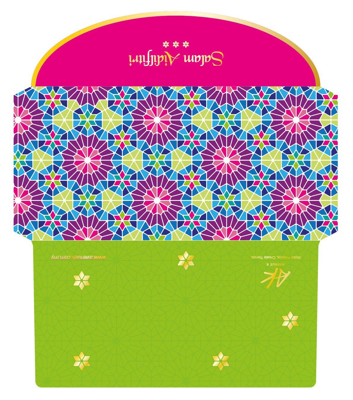 raya 2018 green packets design on behance  design eid