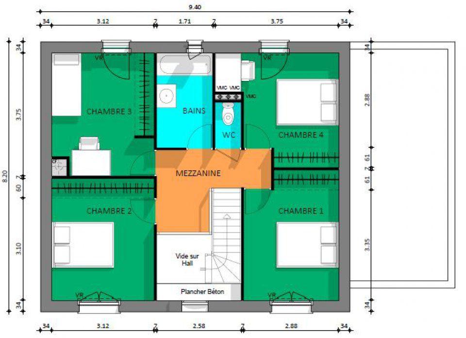 Plan maison neuve à construire - Maisons Evolution Evolution Gattaca