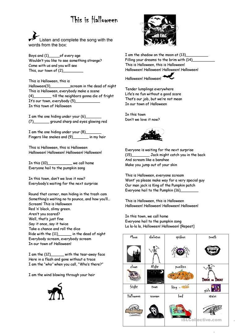 Halloween Worksheets For Young Learners This Is Halloween English Esl Worksheets For Distanc Halloween Worksheets Halloween Worksheets Free Fun Math Worksheets [ 1079 x 763 Pixel ]