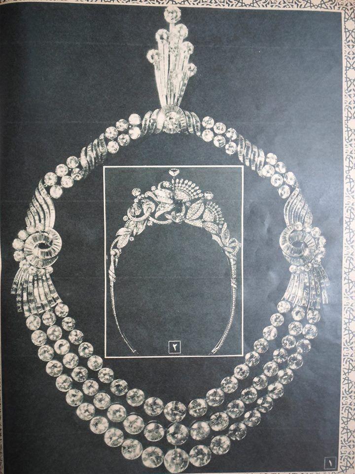 هدية مقدمة إلي العروس ( الملكة فريدة ) يوم زفافها ( الخميس 20 يناير 1938 )