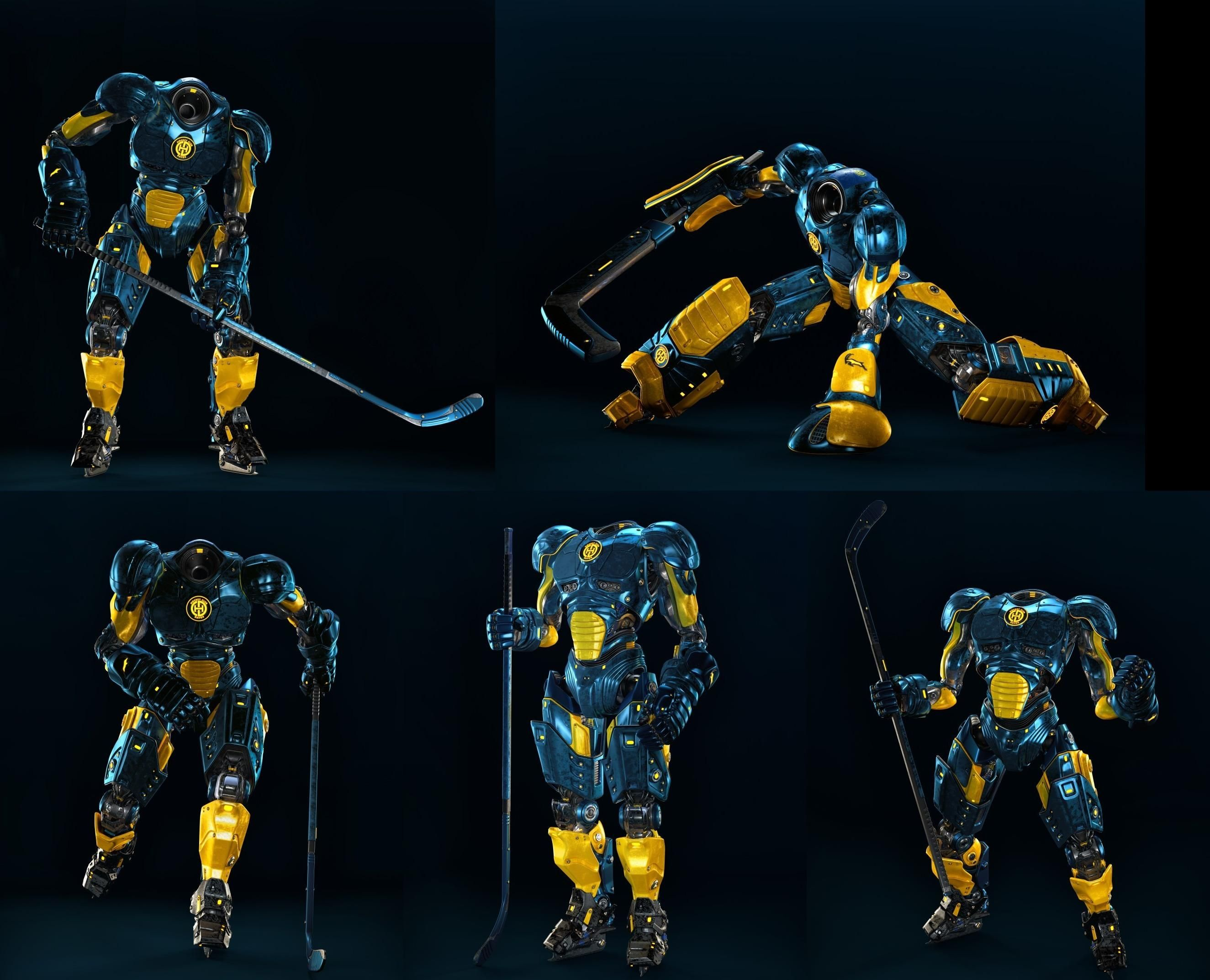 Hockey Player Robots By Vladislav Ociacia