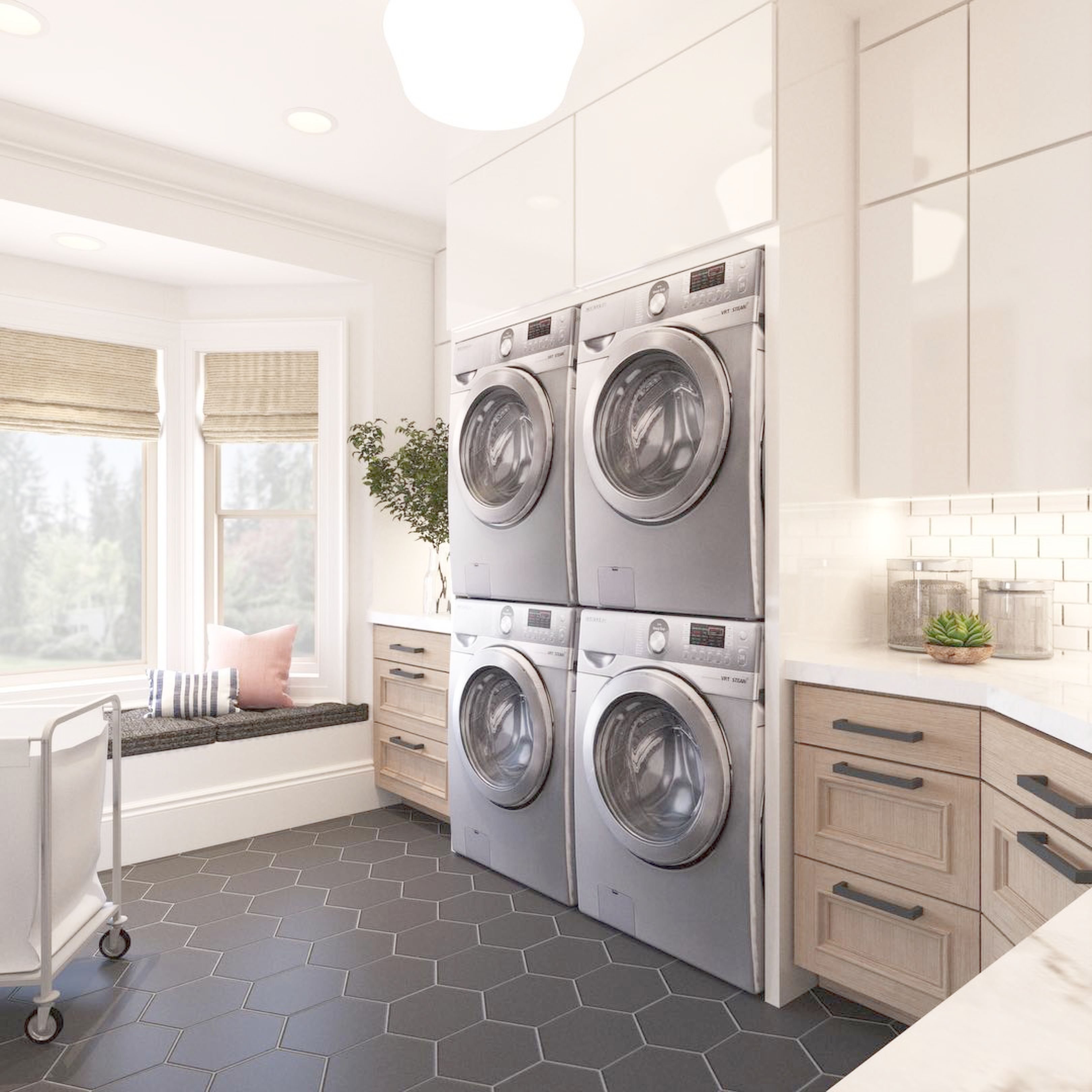 How Much Do You Love This Double Decker Laundry Idea