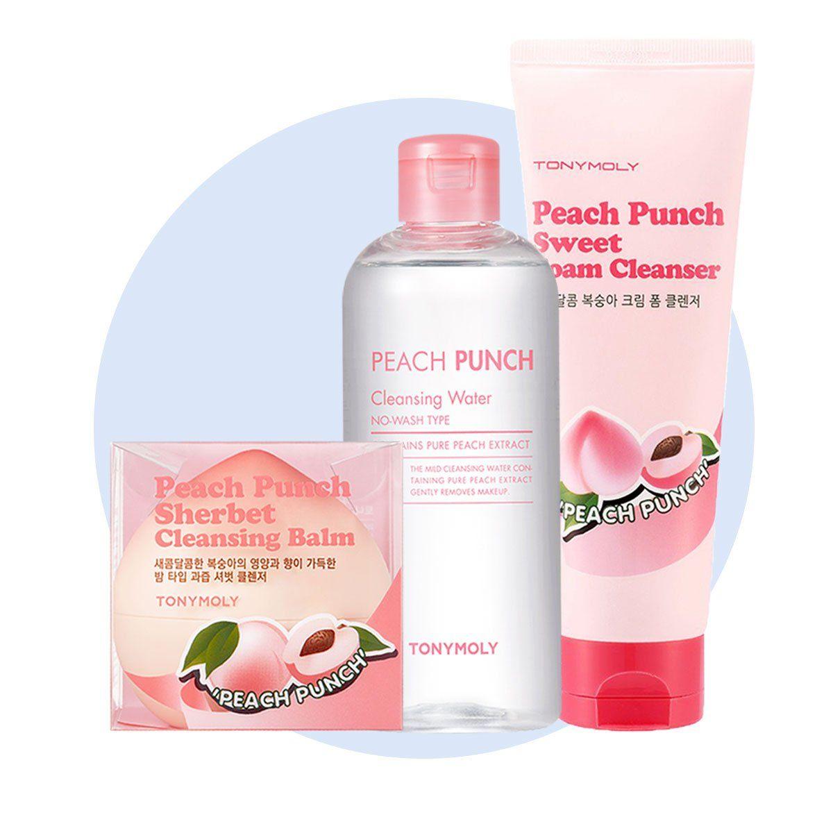 Peach Punch Cleansing Set Cleansing Balm Peach Skin Care
