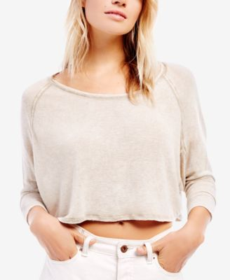 34e94d4328 FREE PEOPLE Free People Cropped Long-Sleeve T-Shirt.  freepeople  cloth    tops