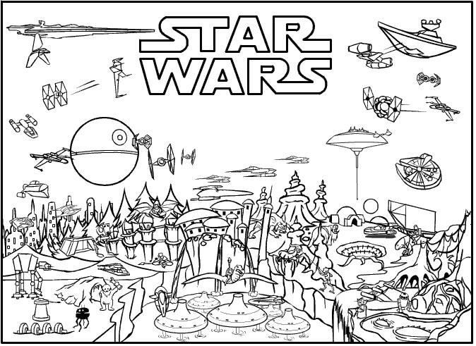 Star Wars Coloring Pages Free Printable Star Wars Coloring Sheet