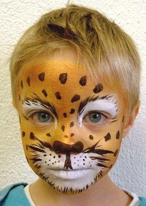 Leopard schminken kinder einfach