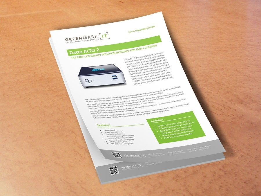 Create an eye-catching Sales Sheet Template for Greenmark IT! by - sales sheet template
