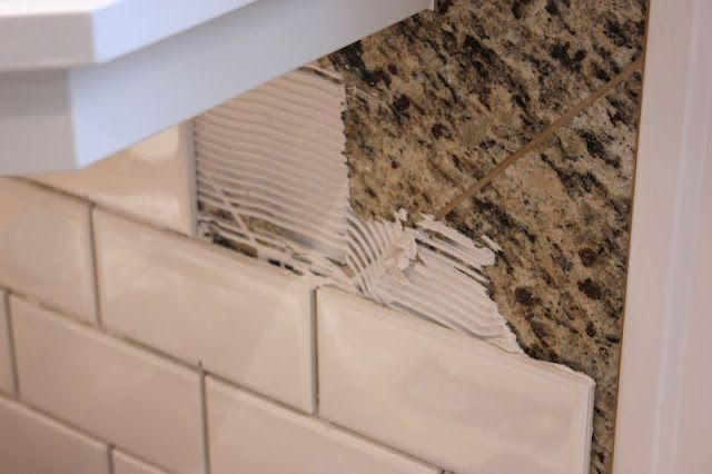 Forever Cottage Will Break D I Y Rules For Subway Tile Tile Over Tile Brick Fireplace Makeover Subway Tile