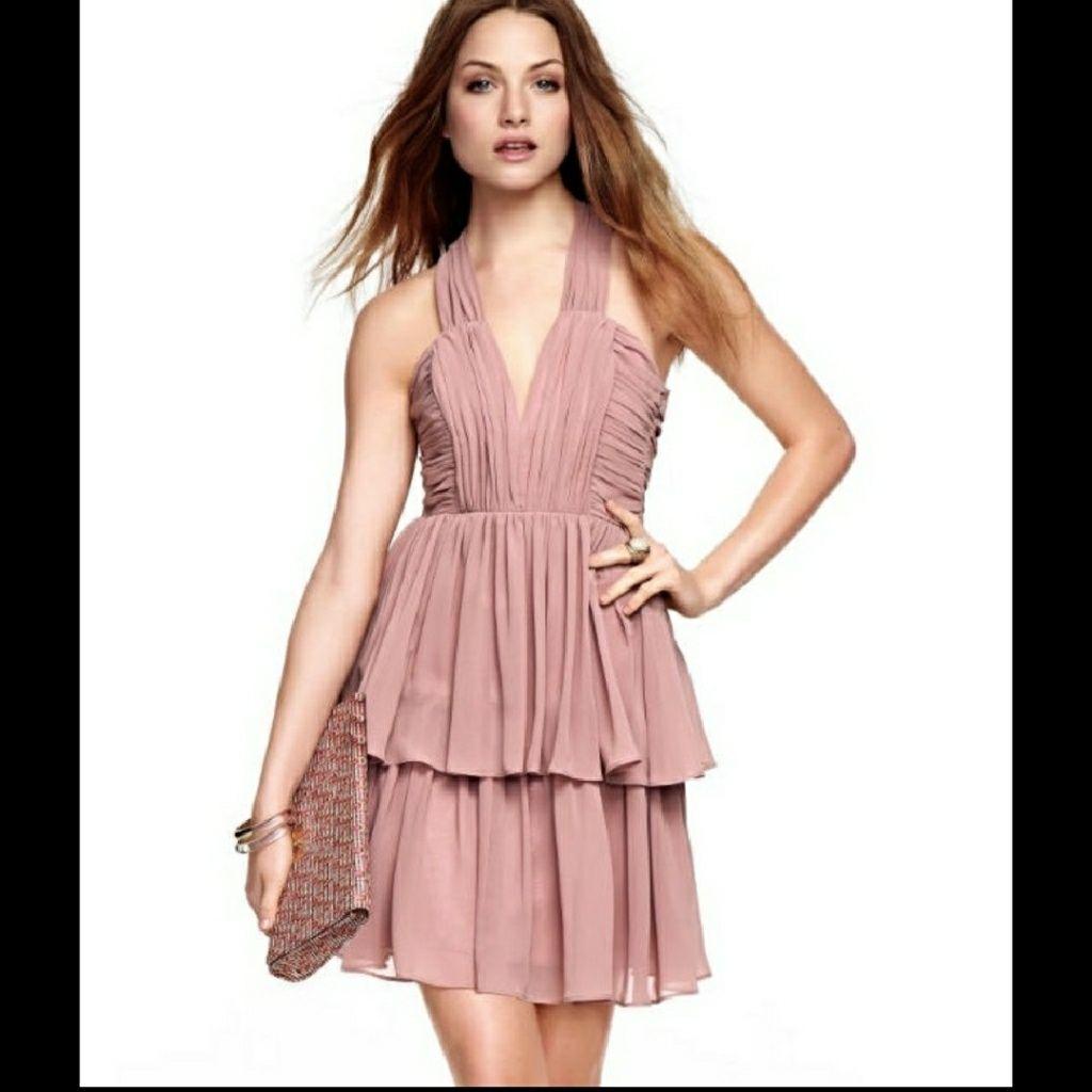Stunning H&M Blush Tiered Dress Size 6 | Pinterest | Tiered dress ...