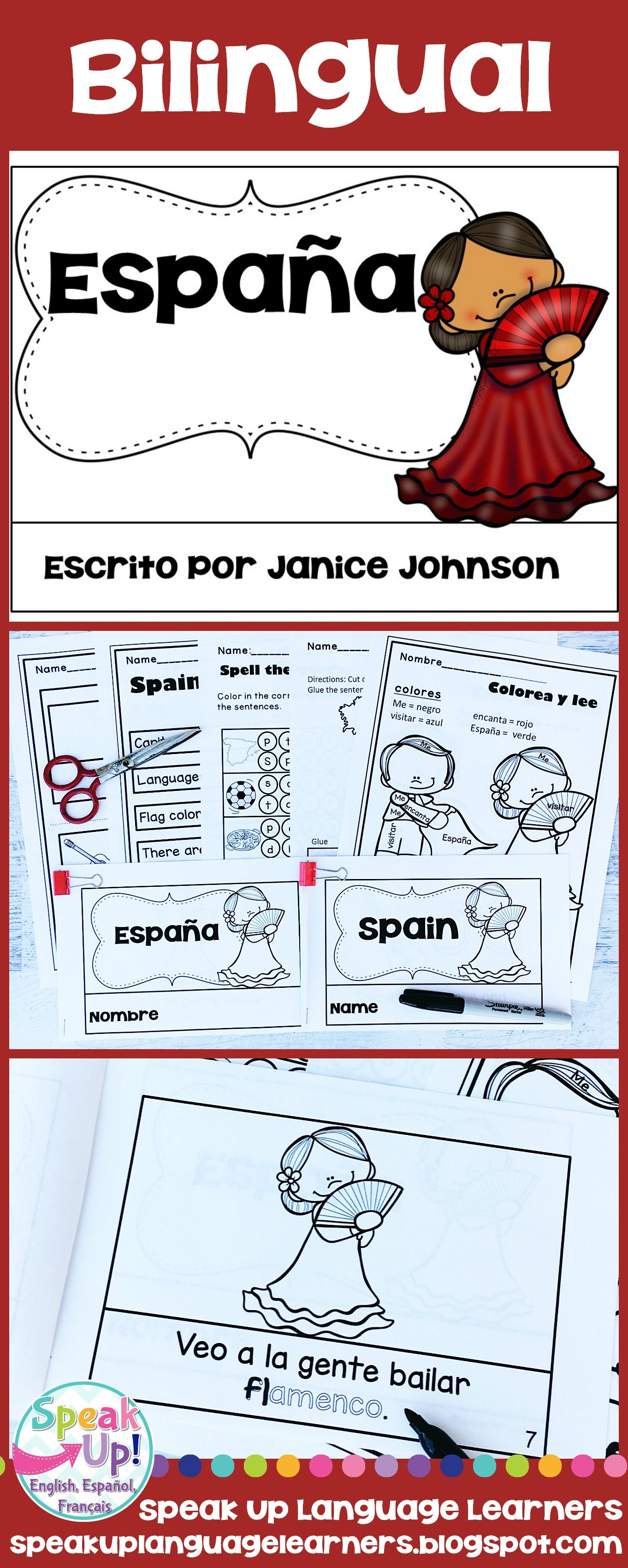 Spain Espana Reader Vocab Pages In English Spanish