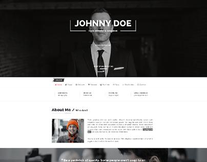 Check Out New Work On My Behance Portfolio Wordpress Resume Theme