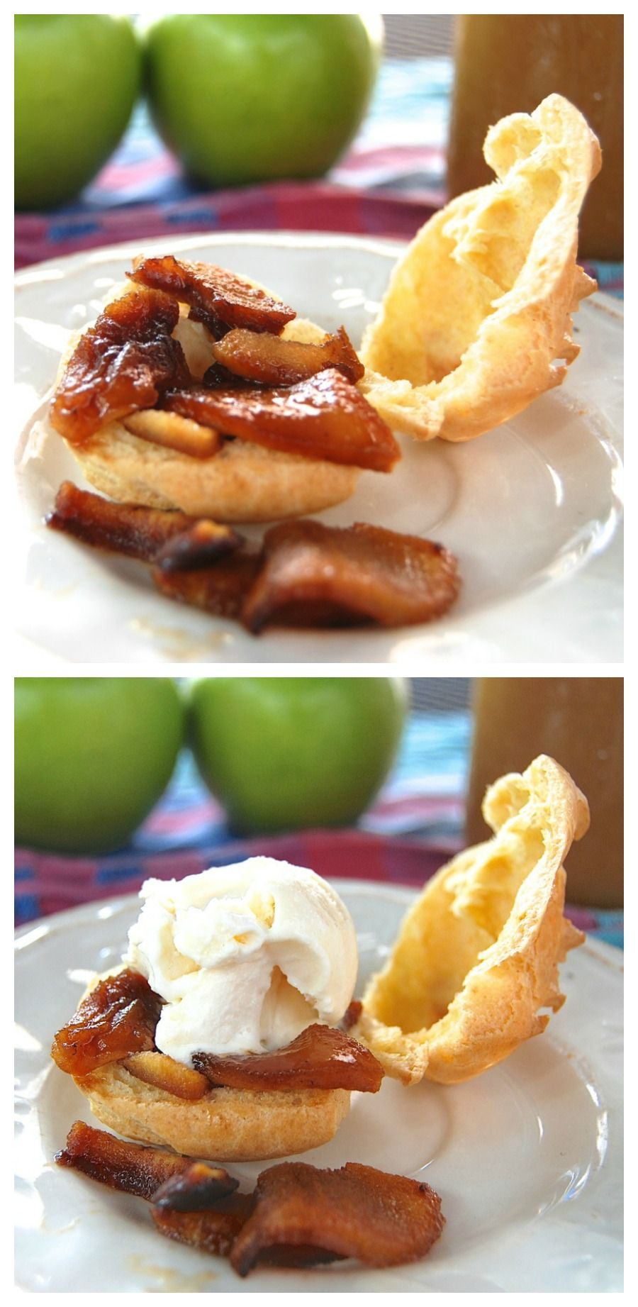 Whole-grain cream puffs? Trust me, these lighter-than-air puffs, made with whole wheat and bread flour, are the perfect vehicle for caramelized apples, ice cream, and rich, buttery apple-caramel sauce.