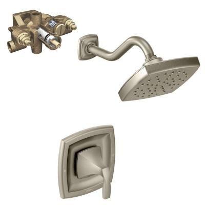 moen voss single handle 1 spray moentrol shower faucet trim kit in