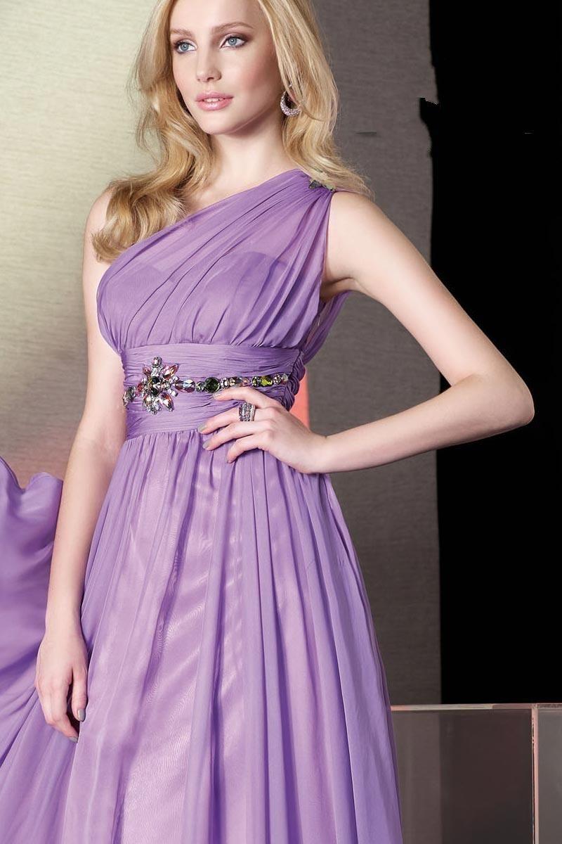 one shoulder purple bridesmaid dress - Google Search   Wedding Ideas ...