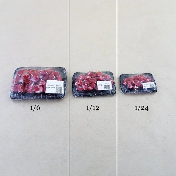 Photo of Miniature Chopped Stew Meat, Dollhouse steak, 1/6, 1/12, 1/2…