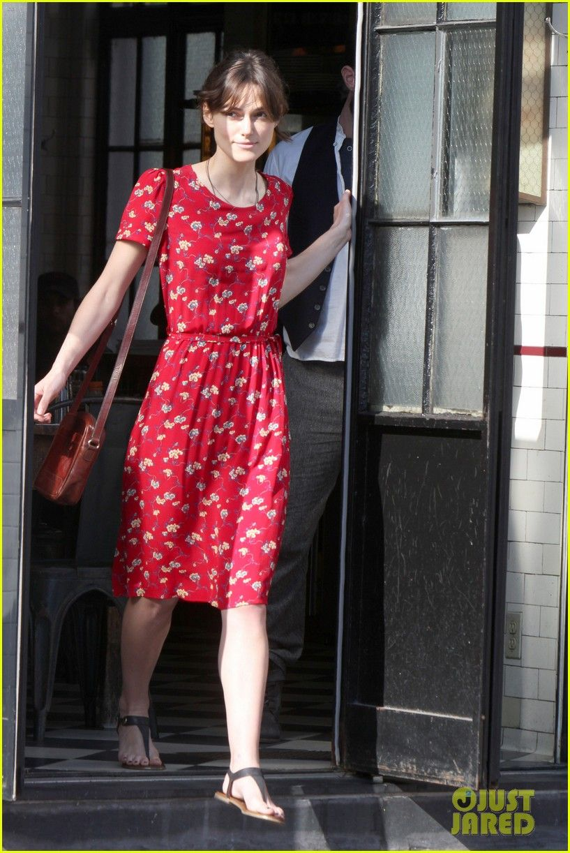 Red Floral Dress | Keira Knightley