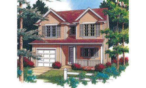 Casa 2pisos 1 planos para casas pinterest casas - Casas americanas interiores ...